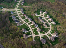 New Suburb. Brand new suburb freshly cut out of a eastern US forest Stock Images