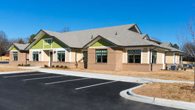 New suburban building. Newly constructed small suburban building Royalty Free Stock Photography