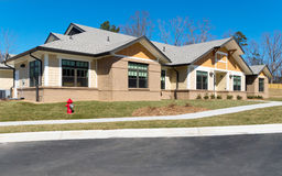 New suburban building. Newly constructed small suburban building Royalty Free Stock Image