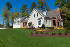 New suburban house. Newly constructed suburban house for sale Royalty Free Stock Photography