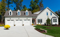 New suburban house. Newly constructed suburban house for sale Stock Images