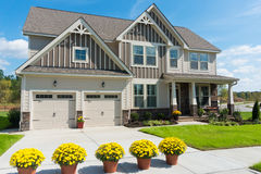 New suburban house. Newly construvted suburban house for sale Stock Image