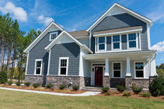 New suburban house. Newly construvted suburban house for sale Royalty Free Stock Photo
