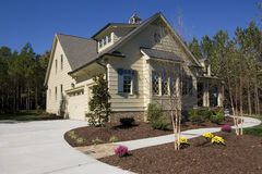 New suburban house for sale. In North Carolina, USA Stock Images