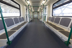 New subway train from the inside Royalty Free Stock Photo
