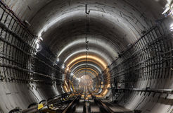 New subway tunnel stock photos