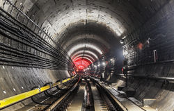 New subway tunnel royalty free stock photos