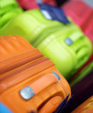 New suitcases of different colors.  Royalty Free Stock Image