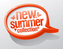New summer collection speech bubble. Royalty Free Stock Images