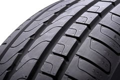 New summer tire tread, slats and track. Close-up, isolate, white background. royalty free stock images