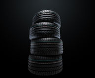 New summer tires stacked Royalty Free Stock Images
