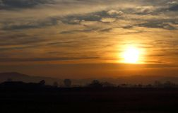New sun is rising. New sun is rising, Natural landscape royalty free stock photo
