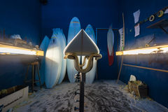 New Surfboard Shaping Bay Blanks Stock Images