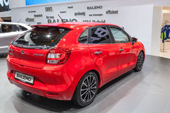 New Suzuki Baleno at the IAA 2015. FRANKFURT, GERMANY - SEP 22: The new Suzuki Baleno at the IAA International Motor Show 2015. September 22, 2015 in Frankfurt Royalty Free Stock Photo