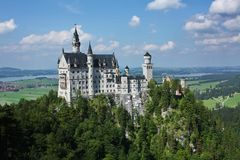 New Swanstone Castle in Germany. Romantic ancient castle in Europe, Germany (Bavaria Stock Images
