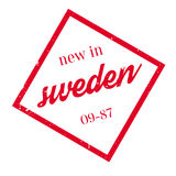 New In Sweden rubber stamp Royalty Free Stock Images