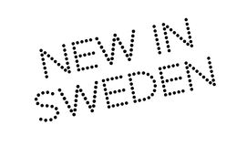 New In Sweden rubber stamp Stock Image