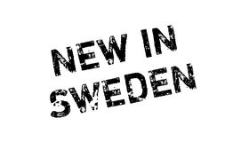 New In Sweden rubber stamp Stock Photo