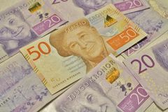 New Swedish banknotes Stock Photo