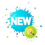 New Symbol on Splash with Dart on Target. Business Vector Icon stock illustration