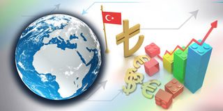 The new symbol of the Turkish Lira Royalty Free Stock Images