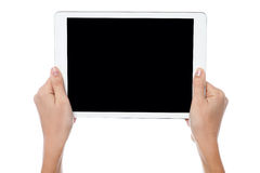 New tablet pc is out for sale Royalty Free Stock Photos