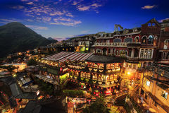 New Taipei City, Taiwan. June 30, 2014: The seaside mountain town scenery in Jiufen, Taiwan Royalty Free Stock Photos