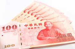 New Taiwan Dollar bill Royalty Free Stock Photos