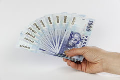 New taiwan dollar fan Stock Images