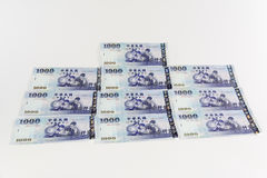 New taiwan dollar. Isolated on white background royalty free stock photo