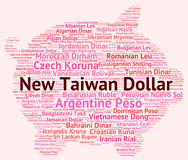 New Taiwan Dollar Means Exchange Rate And Banknotes Royalty Free Stock Image