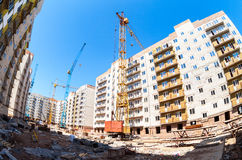 New tall apartment buildings under construction Royalty Free Stock Images