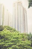 New tall buildings of skyscrapers royalty free stock photography