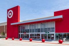 New Target Store. Lancaster, PA, USA - May 2, 2018: Target, an American retailer of consumer clothing, electronics, health, beauty, food, groceries and other royalty free stock image