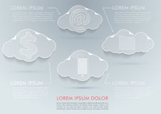 New technologies - cloud computing advantages Royalty Free Stock Image