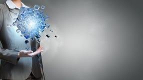 New technologies integration . Mixed media Stock Photo
