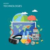 New technologies vector flat style design illustration royalty free illustration