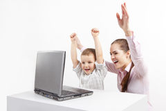 New technology and child Royalty Free Stock Photo
