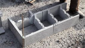 New technology of construction base, the initial stage of a detached house stock video