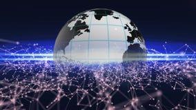 New technology on Earth innovations. Technical progress background. 106. stock illustration