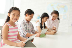 New technology in education Royalty Free Stock Images