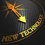 New Technology on Golden Compass. Stock Photo