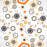 New technology hexagonal business background. Royalty Free Stock Photos