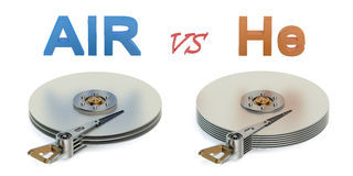New technology of high capacity Hard Disk Drive (HDD) concept Royalty Free Stock Images