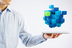 New technology integration concept  . Mixed media Stock Photo