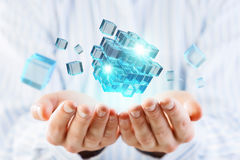 New technology integration concept . Mixed media Royalty Free Stock Photos