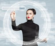 New Technology, Internet, And Web Surfing Concept Royalty Free Stock Images