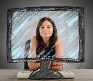 New technology in office Royalty Free Stock Images