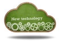 New technology text on cloud shape blackboard stock photos