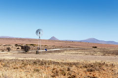 New Technology Windmill - Cradock Landscape Stock Photo